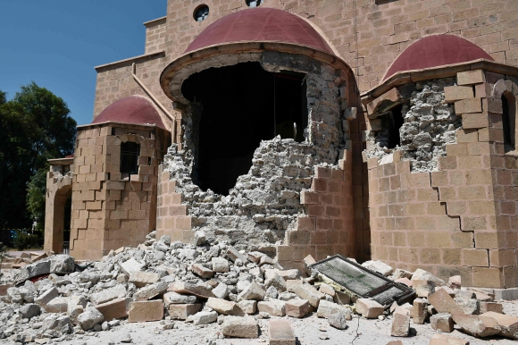 Terremoto en Grecia y Turquía. Foto: AFP