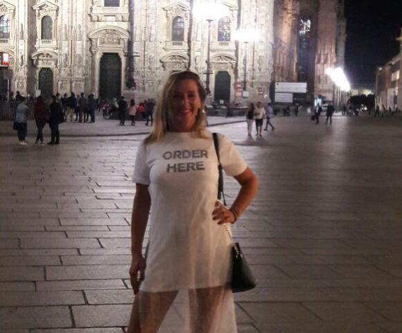 Laura en la Catedral de Milán.