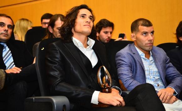 Edinson Cavani en la ceremonia de entrega de Premios Charrúa. Foto: Gerardo Pérez