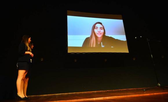 El mensaje de Dolores Moreira, que no pudo estar presente en los Premios Charrúa. Foto: Gerardo Pérez