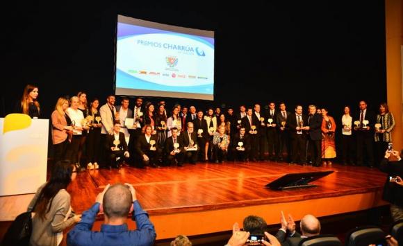 Los ganadores de los Premios Charrúa. Foto: Gerardo Pérez.