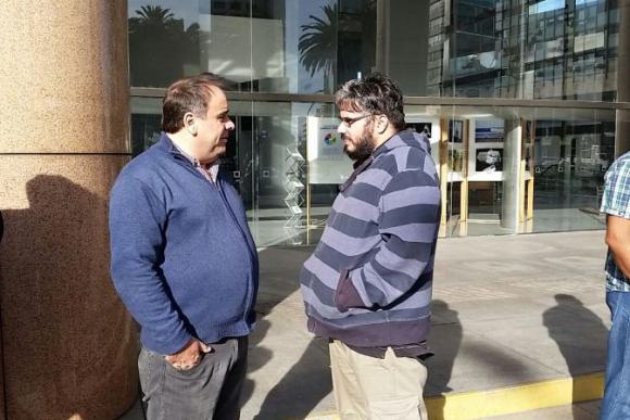 Joselo López, sceretario general de COFE y Martín Pereira, presidente de FFSP. Foto: Ariel Colmegna.