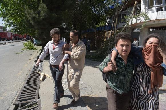 Atentado en Kabul. Foto: AFP