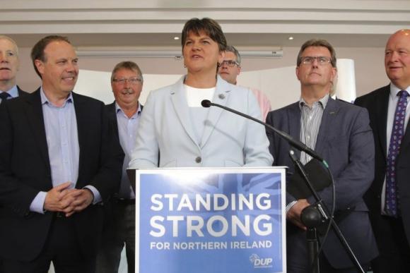 Arlene Foster, líder del Partido Democrático Unionista  de Irlanda del Norte. Foto: Efe.