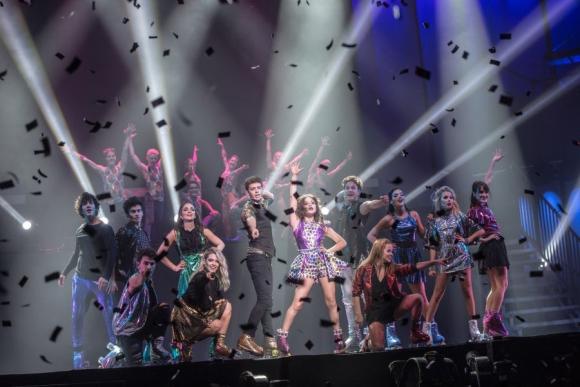 Los chicos de Soy Luna hicieron bailar y a cantar a los miles de asistentes. Foto: Difusión