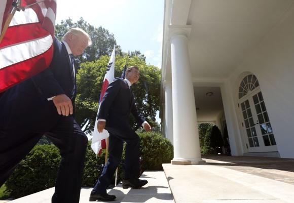 Trump convocó a sus aliados a aplicar duras sanciones al régimen norcoreano. Foto: Reuters
