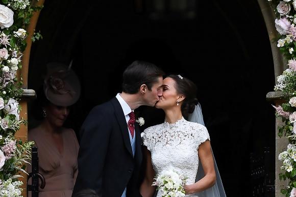 Los flamantes esposos. Foto: Reuters