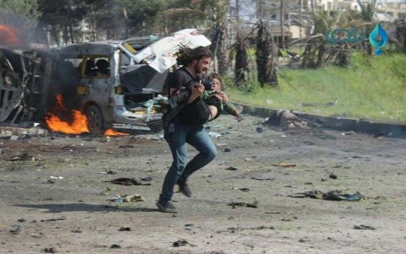 Ataques en Alepo. Foto: Twitter @HadiAlabdallah