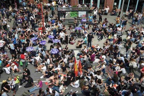 Calles cortadas por manifestaciones en la cumbre del G20. Foto: AFP.