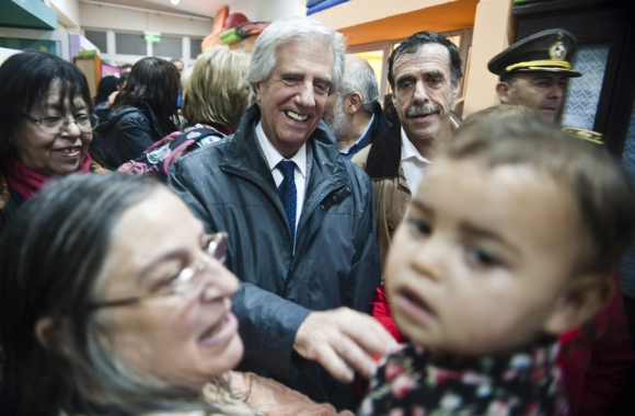 Tabaré Vázquez en Cardal. Foto: F. Ponzetto