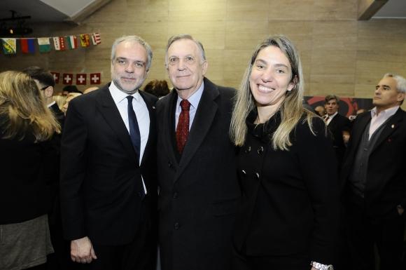 José Luis Cancela, Didier Operti, Alejandra Costa.