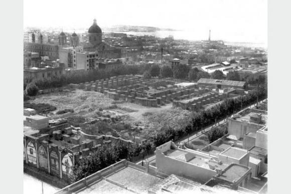 Cimientos del edificio del Palacio de Gobierno entre 1930 y 1935. Foto: Centro de Fotografía