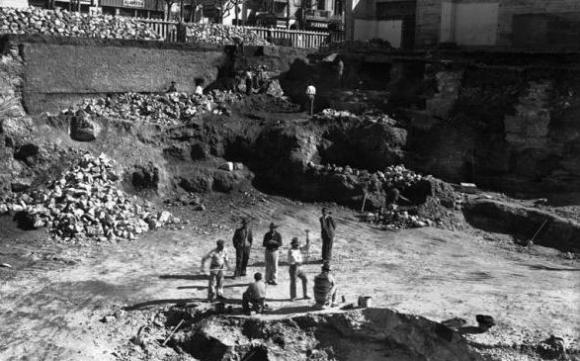 Ejido y 18 de Julio en 1939. Foto: Centro de Fotografía