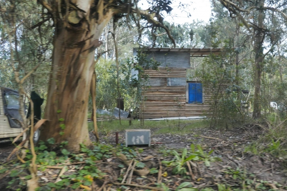 Colonia: en bosques y predios costeros surgieron construcciones precarias. Foto: R. Figueredo