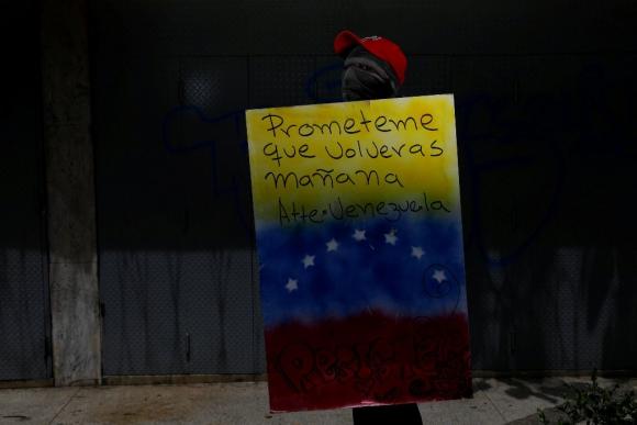 Escudos anti chavistas en Venezuela. Foto: Reuters