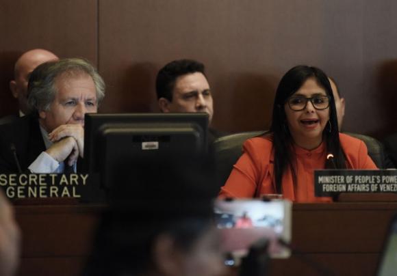 El secretario general de la OEA y la canciller venezolana volvieron a chocar. <br>Foto: EFE