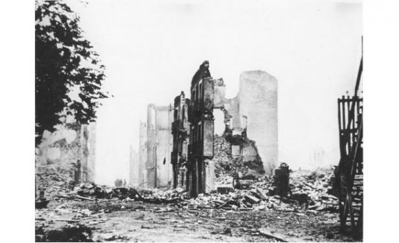 Gernika en ruinas (Foto Bundesarchiv)