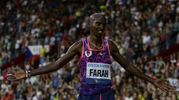 El británico Mo Farah ganó los 10.000 metros en Ostrava. Foto: AFP.