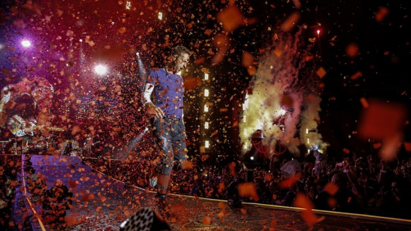 La banda británica Coldplay dio dos magníficos shows en La Plata. Foto: La Nación  /GDA