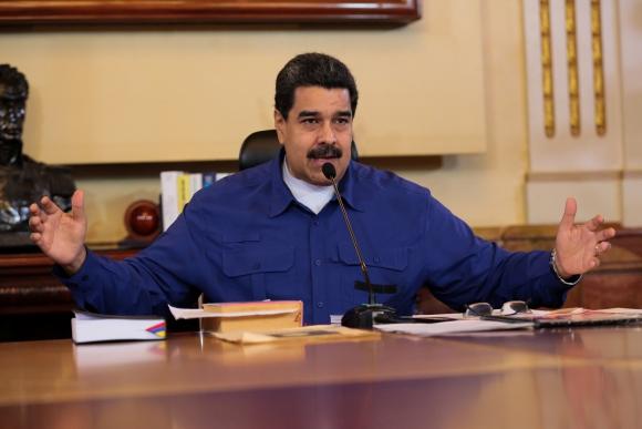 Nicolás Maduro durante su programa de televisión. Foto: Reuters