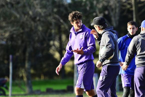 Andrés Lamas conversa con Eduardo Acevedo. Foto: Gerardo Pérez