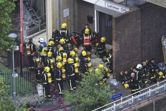 Incendio en Londres. Foto. EFE