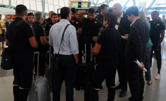 Lucas Cavallini no pudo viajar con Peñarol por problemas en sus documentos. Foto: Fernando Ponzetto