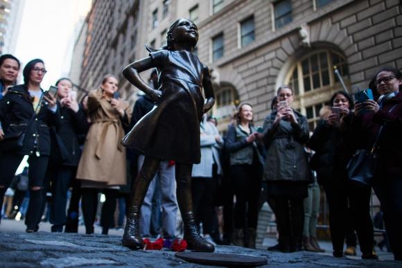 La imagen apareció sin aviso el 7 de marzo, vísperas del Día de la Mujer. Foto: AFP
