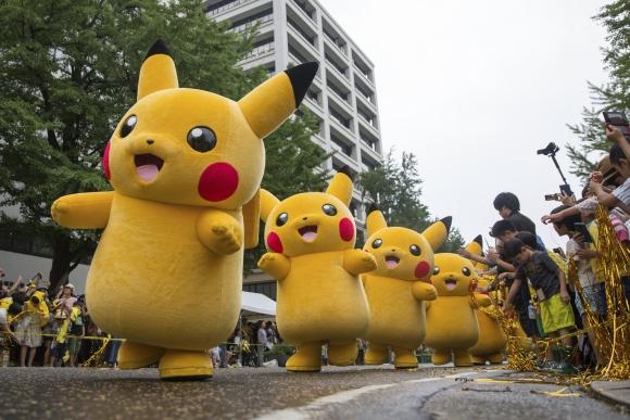 Japón celebra un año de Pokemon Go. Foto: EFE