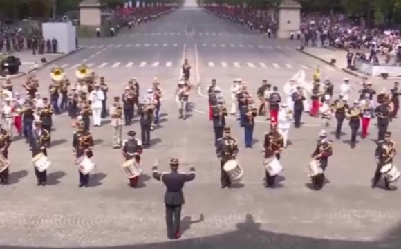 El estilo musical de la ceremonia fue uno de los puntos altos de la misma. Foto: Captura de video
