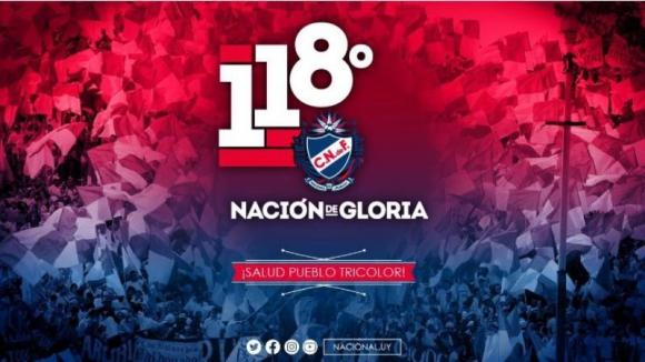 Aniversario de 118 años de vida del Club Nacional de Football. Foto: Prensa Nacional
