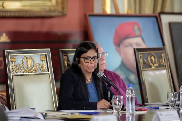 Delcy Rodríguez  presidenta de la Asamblea Nacional Constituyente. Foto: Reuters