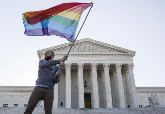 Festejos en Washington frente a la Casa Blanca. Foto: Reuters.