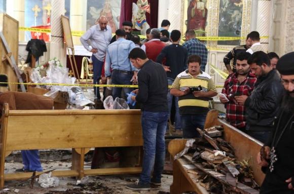 El primer atentado fue en la ciudad Tanta (27 muertos y 78 heridos). Foto: AFP