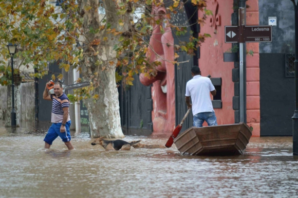 Inundaciones en Paysandú. Foto: Daniel Rojas