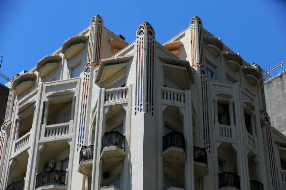 El Palacio Rinaldi y su llamativa fachada.