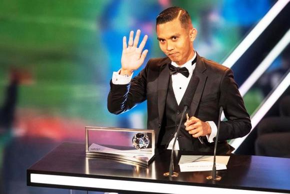 Mohd Faiz Subri, autor del mejor gol de 2016. Foto: EFE