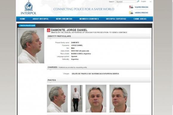 Solicitud de captura de Interpol.