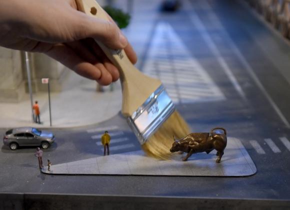 Toro de Wall Street. Foto: AFP