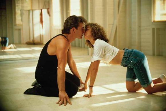 Johnny y Baby en las clases de baile en el resort en el que se conocieron.