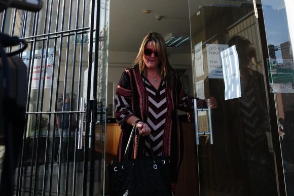 Paula Sanabria, hermana del cambista, declaró ayer ante la Justicia. Foto: Puntapress