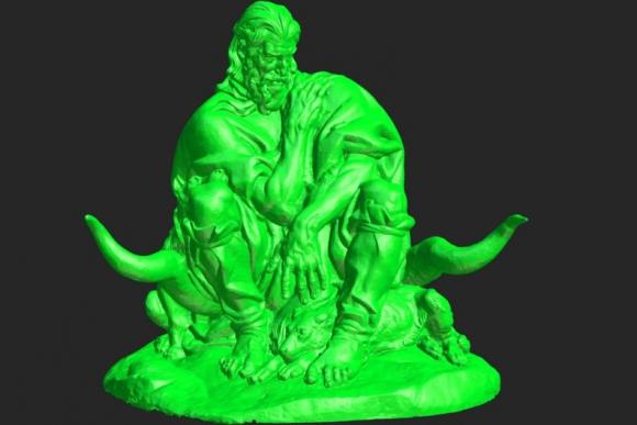 Estatua del Viejo Vizcacha por José Zorilla de San Martín. Foto: patrimonio3d.uy.
