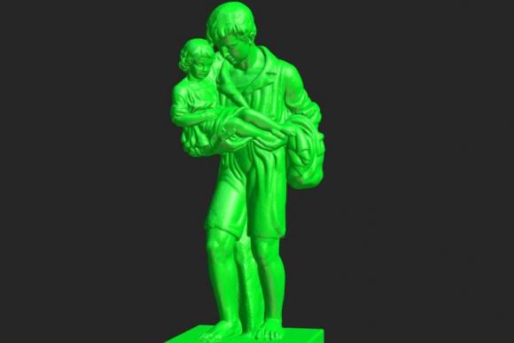 Estatua de Dionisio Díaz por José Belloni. Foto: patrimonio3d.uy.