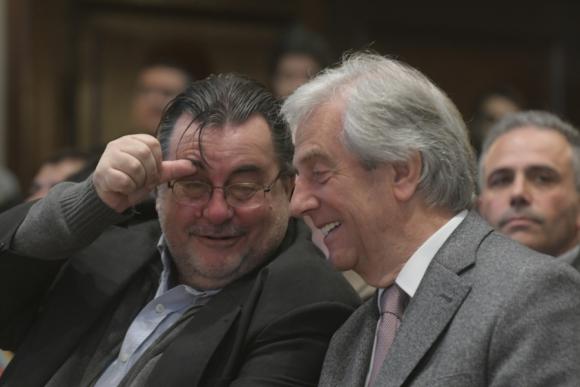 Eber Da Rosa y Tabaré Vázquez. Foto: Francisco Flores
