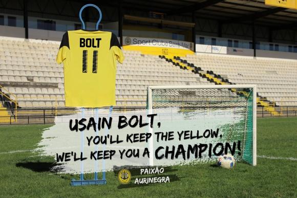 Así buscan convencer a Usain Bolt a jugar en el Beira Mar. Foto: Facebook - Beira Mar