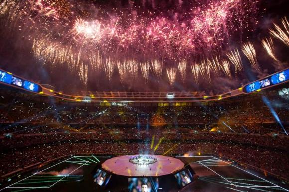 El Santiago Bernabéu vivió una fiesta de coronación digna de Hollywood. Foto: Reuters