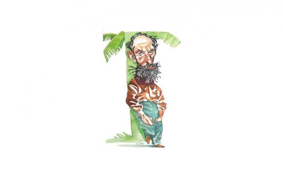 Horacio Quiroga. Dibujo de Ombú