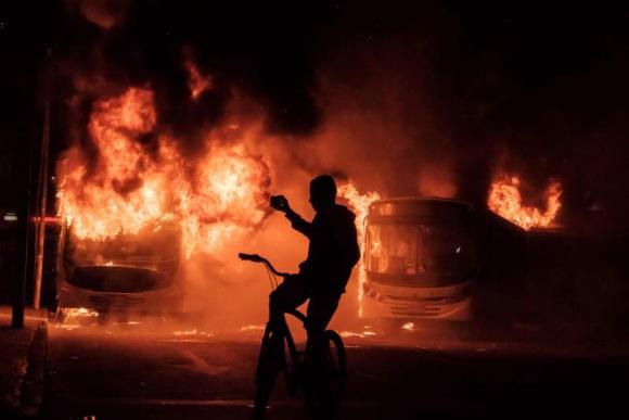 Protestas contras las reformas en Río de Janeiro. Foto: AFP.