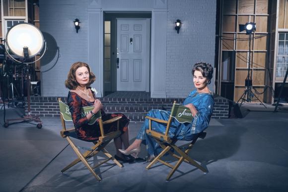 Susan Sarandon es Bette Davis y Jessica Lange es Joan Crawford.