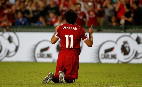 Mohamed Salah en el triunfo de Liverpool. Foto: Reuters